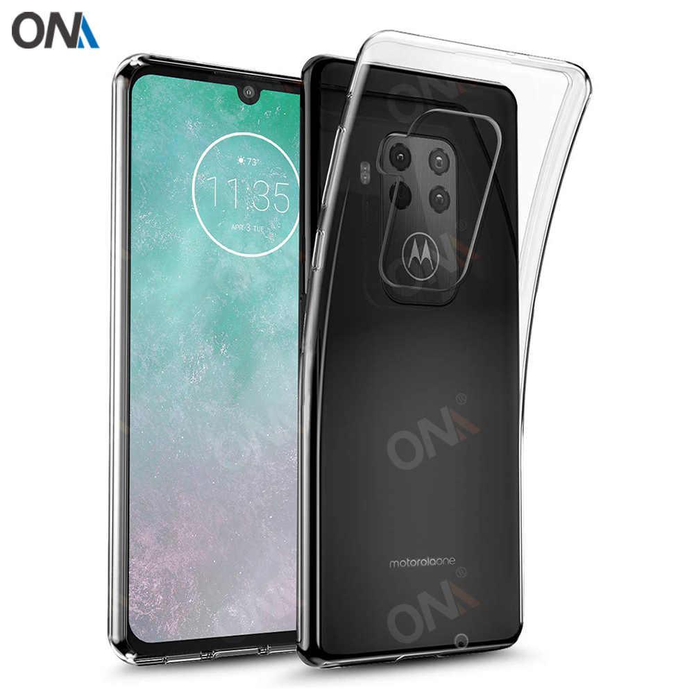 Untuk Motorola Satu Zoom 6.39 Slim Crystal Clear Transparan Lembut TPU Kembali Case Perlindungan Kulit Kamera Melindungi Cover