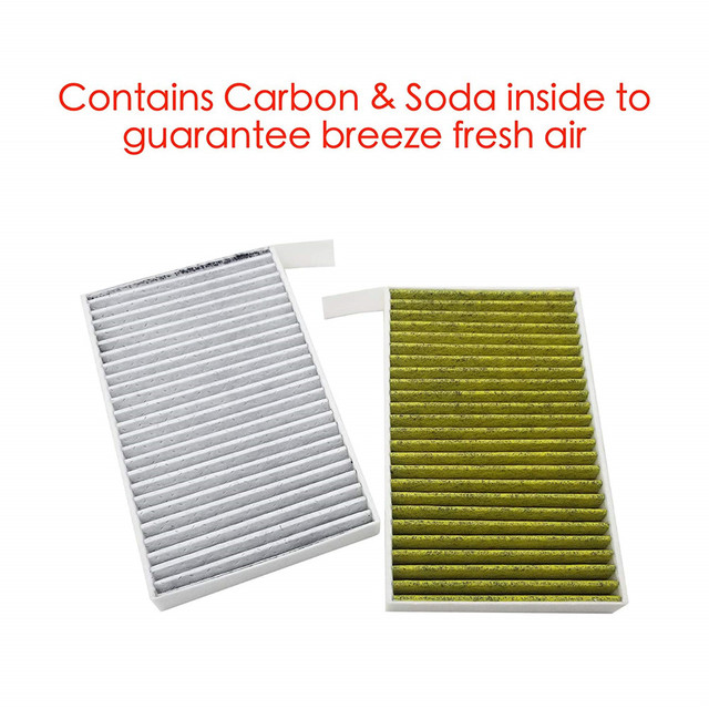 1PC Car Cabin Air Filter Replacement with Activated Carbon for Tesla Model 3 2017 2018 2019 Car Air Conditioning Filter PM 2.5 4