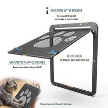 Дверь для кошек, защитная дверь для питомцев, дверь для собак, рисунок следа, оконный экран, безопасные товары для питомцев D30