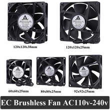 1Pcs 60mm 80mm 90m 120mm AC 110V 220V 240V 3 zoll Dual ball Kunststoff Universal Kühlung Kühler PC CPU Fans Luftstrom Für Computer