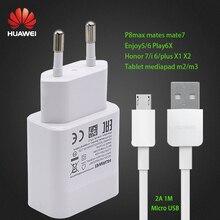 HUAWEI USB зарядное устройство адаптер 5 В/2A данных Cabel Voor HUAWEI P20 Lite P7 P8 Lite P9 lite P10 P20 Honor 8 Lite 7i 6X5