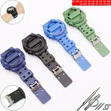 שעון אביזרי עבור Casio שרף רצועת G SHOCK GA GLS GD 110 100 120 סיכת אבזם 16mm גברים של נשים של גומי ספורט שעון מקרה