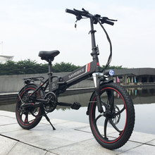Power Assist Electric Bicycle 20 Inch Folding Electric Bike E-Bike Scooter 350W Motor Conjoined Rim