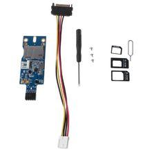 цена на Mini PCI-E Wireless to USB Adapter with SIM Card Slot WWAN LTE Module Adapter Card for Desktop System USB 9Pin MINI PCI-E