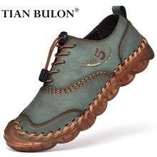 Sapatos casuais masculinos de couro artesanal marca de luxo tênis respirável deslizamento em mocassins clássico zapatillas hombre