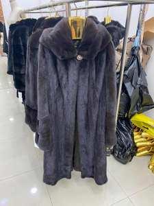 Jackets Mink-Coat Real-Fur-Coat Natural Fur Winter Women Long Warm And B-8 Wishers Rose