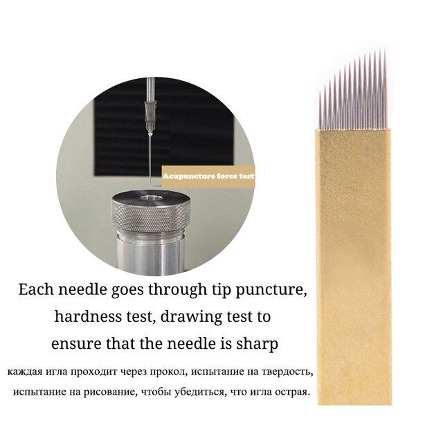 Профессиональный макияж tebori лезвие иглы микроблейдинг 12