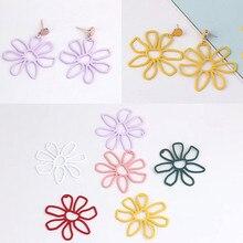 2pcs diy jewelry earrings ear stud pin for women making accessories geometric flower materialn