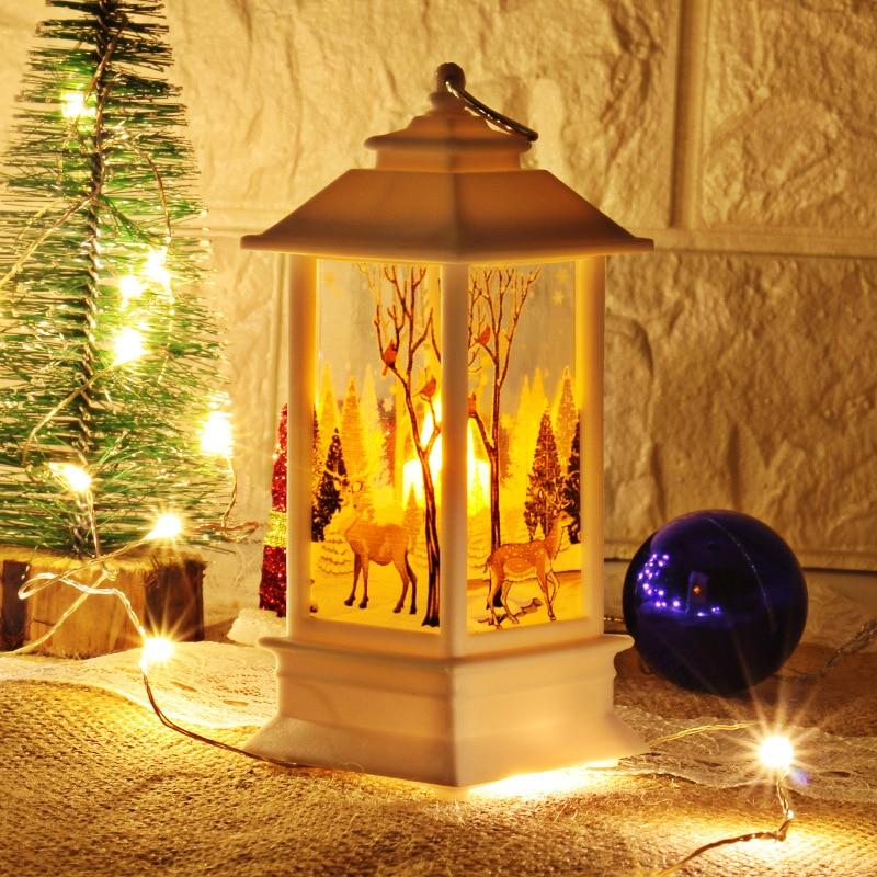 Рождественский светильник s лампа настольная наружного освещения Светодиодный окрашенный светильник подсвечник светильник s винтажный ночной Светильник Санта Снеговик Олень торшер Иисус - Испускаемый цвет: white-elk