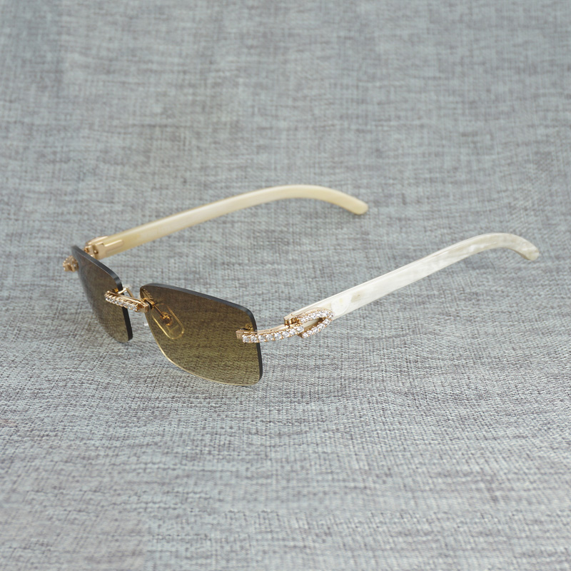 Горный хрусталь черный, Белый Цвет рога буйвола оправы солнцезащитных очков Для мужчин натурального дерева солнцезащитные очки ретро Отте... - 3
