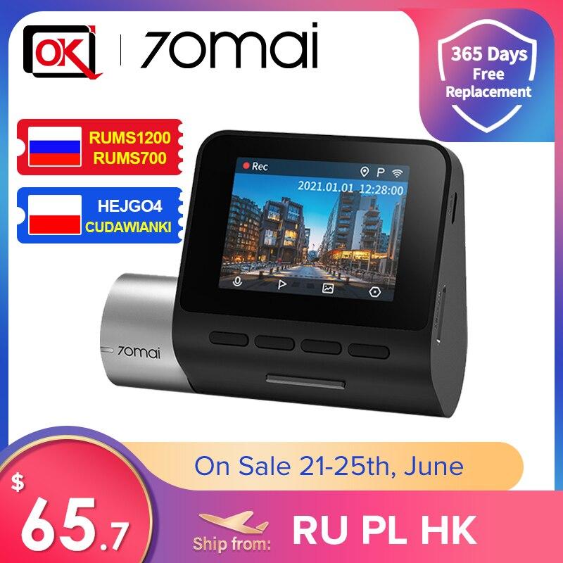 70mai-Cámara de salpicadero Pro Plus + 70mai A500S, GPS integrado, velocidad coordinada, ADAS, DVR, con cámara trasera, Monitor de aparcamiento 24H, novedad de 2021
