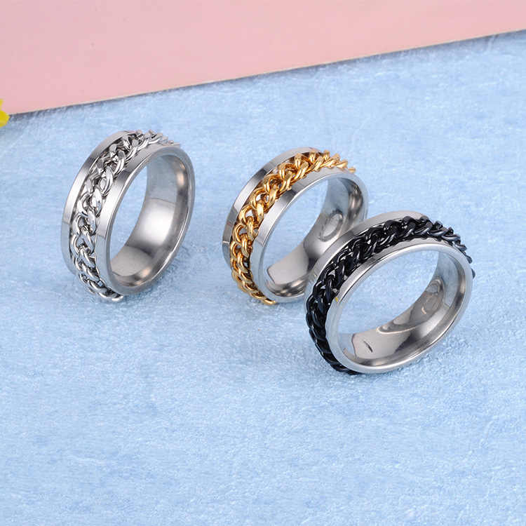 Fashion Stainless Steel Carbon Fiber Ring for Men women Couple Ring Black Silver Color Male Jewelry Accessories