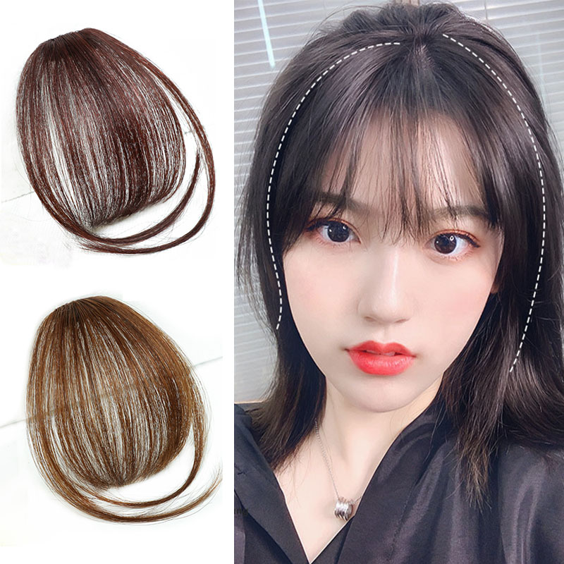 4Color 6inch Clip In Hair Bangs Hairpiece Accessories Synthetic Fake Bangs Hair Piece Clip In Hair Extensions