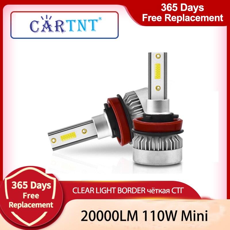 CarTnT автомобилей головной светильник H11 110W 20000LM светодиодный лампы H4 H7 H1 H8 HB3 9005 HB4 9006 9012 HIR2 6000 К стайлинга автомобилей противотуманных фар свет...