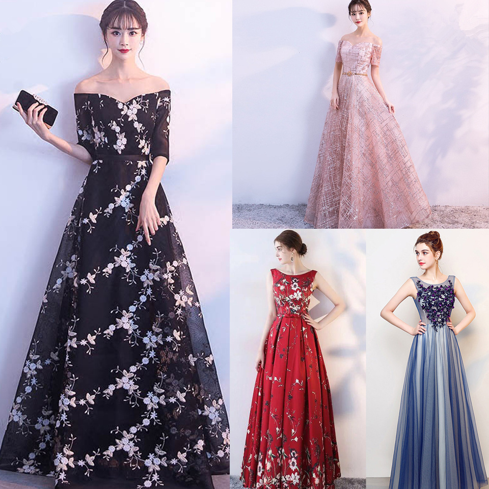 In Stock Luxury Boat Neck Off The Shoulder Bling Lace Up   Evening     Dresses   Backless Floor Length Party Gown MX011 More Style