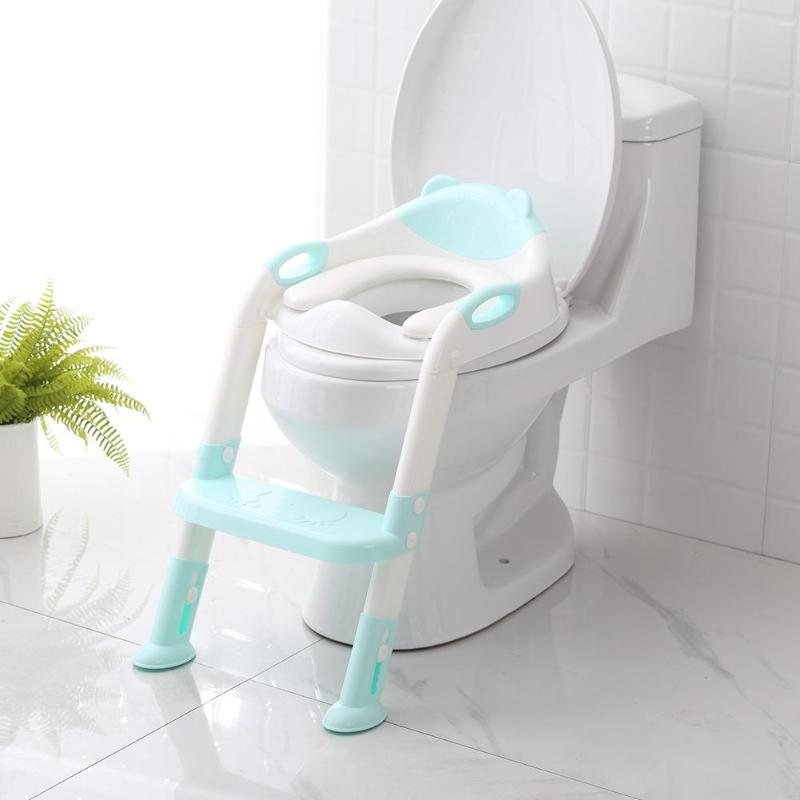 Baby Potty Training Seat With Adjustable Ladder Children Training Safety Toilet Seat Foldable Training Seat