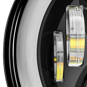 Image 4 - RGB Halo 7 אינץ Led פנס Plug And Play Bluetooth Led עיני מלאך פנס אטום קרן עבור ג יפ רנגלר CJ JK אבזרים
