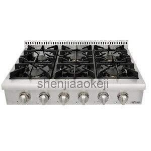 1pc plaques de cuisson à gaz cuisinière à gaz commerciale 36 pouces cuisinière à gaz intégrée en acier inoxydable cuisine cuisinière à gaz cuisinière 120 V/60Hz
