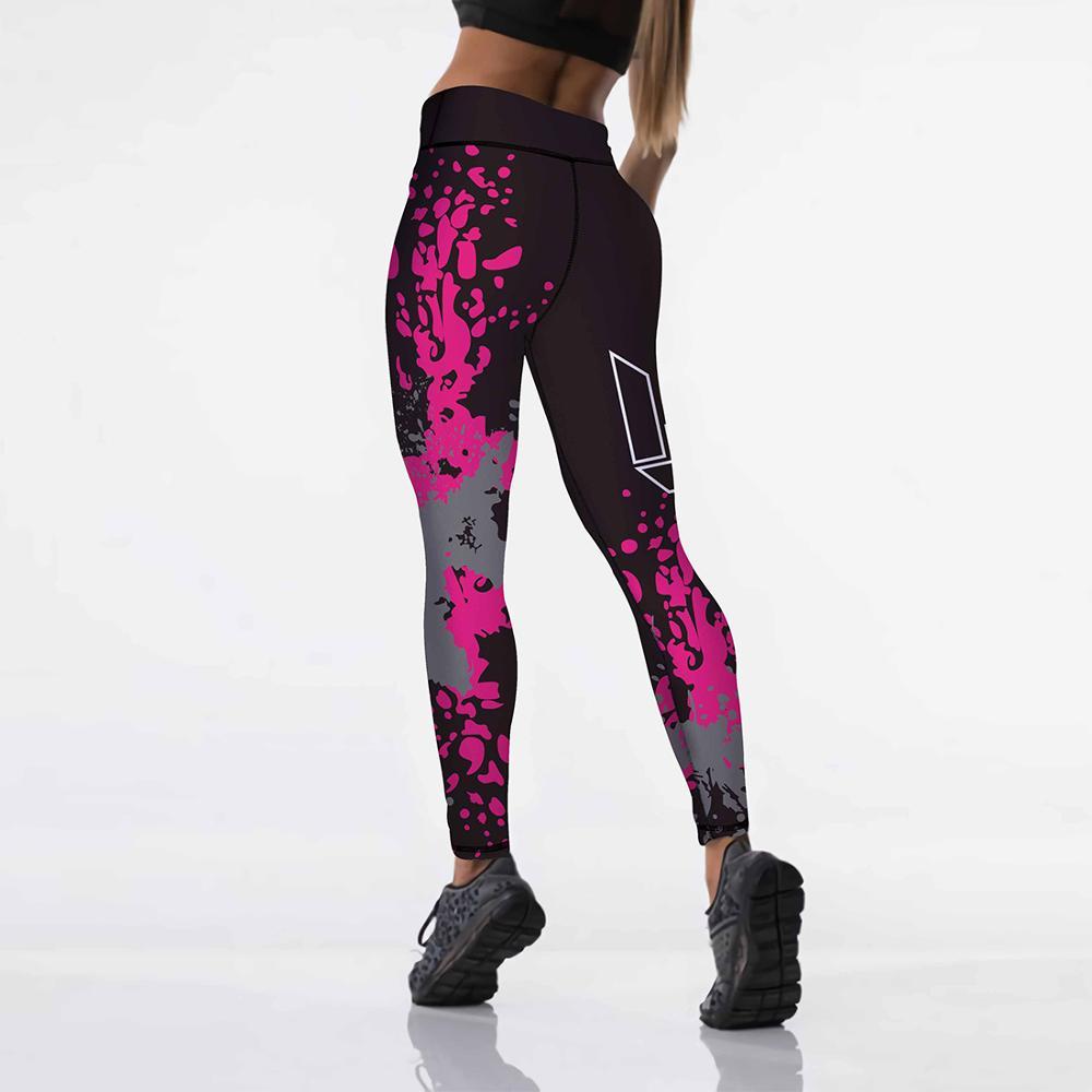 Qickitout 12 spandex Sexy High Waist Elasticity Women Digital Printed Leggings Push Up Strength Pants