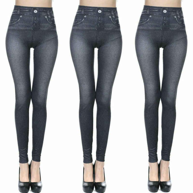 Baru Wanita Kurus Elastis Seluar Jegging Pinggang Tinggi Celana Pensil Wanita Kasual Slim Fit Pergelangan Kaki-Celana Panjang