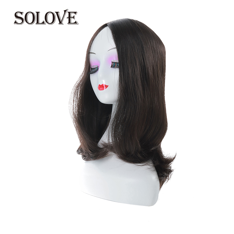 SOLOVE Kosher Jewish Wig Silk Base Wig Silk Top Double Drawn With Baby Hair Unprocessed European Virgin Hair Wig