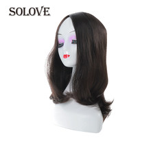 SOLOVE Kosher Jewish Wig Silk Base Wig Silk Top Double Drawn With Baby Hair Unprocessed European Virgin Hair Wig(China)