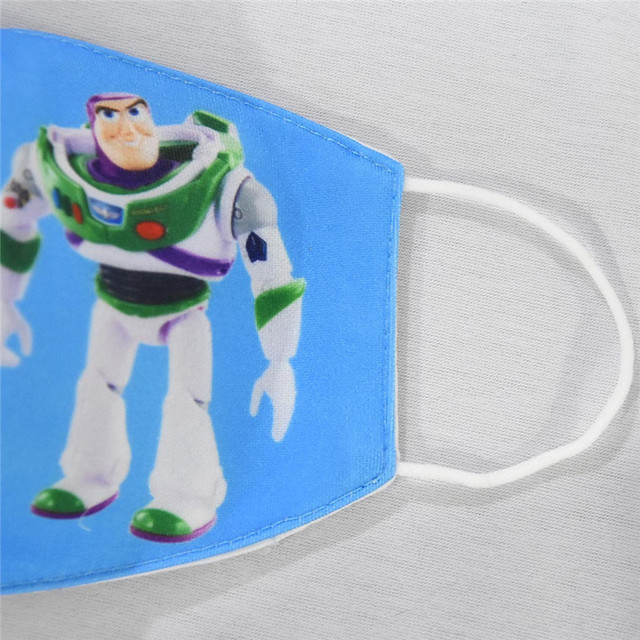 Disney Toy Story Buzz Lightyear Woody Jessie Children's Face Maks Reusable Breathable Protective Kid Cartoon Mouth Face Maks 4