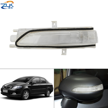 ZUK Rearview Mirror Turn Signal Side Mirror LED Repeater Lamp For Honda FIT JAZZ 2007-2008 FIT SALOON 2003-2006 CITY 2007-2008 image