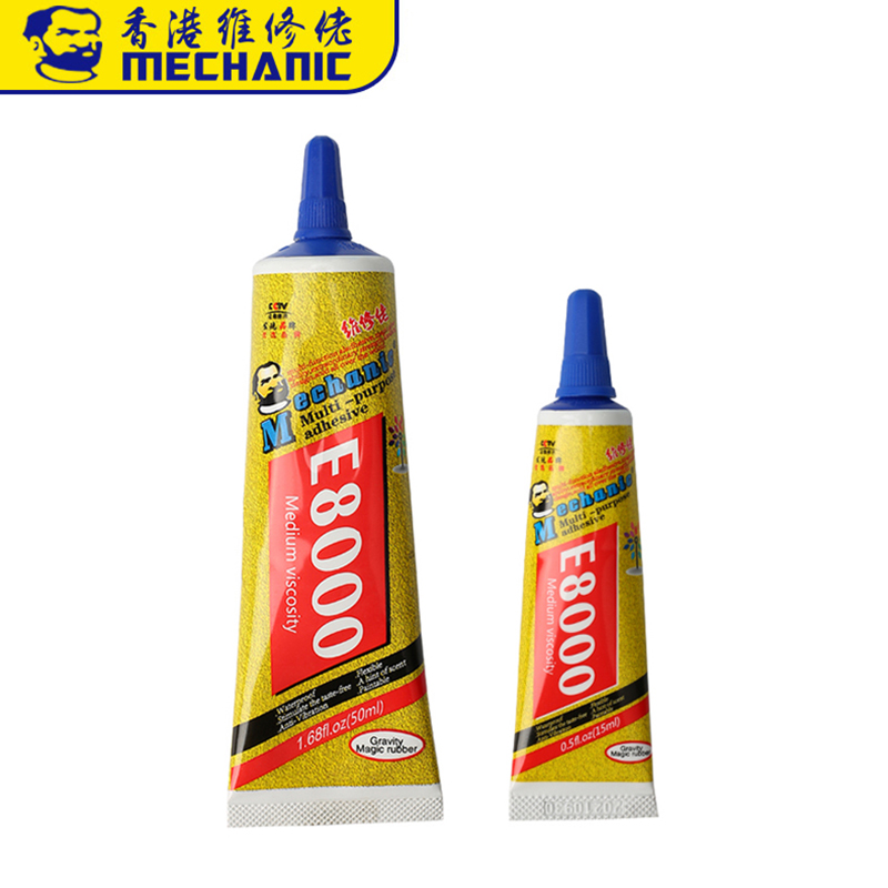 MECHANIC E8000 15/50ML Liquid Glue Multipurpose Adhesive Jewelry Crafts Rhinestone DIY Smartphone Screen Glass Repair Glue
