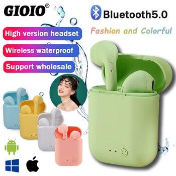 Mini 2 Drahtlose Kopfhörer Bluetooth Kopfhörer Wasserdichte Ohrhörer Sport Earbuds Für Huawei Iphone OPPO Xiaomi TWS Musik Headset|Handy-Ohrhörer und Kopfhörer Bluetooth|   -