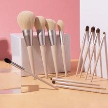 12 шт Профессиональный набор кисточек для макияжа с деревянной
