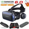 VR -shinecon -BOX 6,0, версия гарнитуры виртуальной реальности, 3D VR очки, гарнитура, контроллер для Google cardboard, лучший подарок