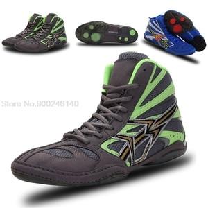 Боксерские кроссовки для мужчин и женщин, профессиональная обувь для борьбы и борьбы, Нескользящие боксерские сникерсы, сапоги для боя, бол...
