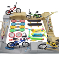 Tech Fingerboard Skate Ramp Parts Set skateboarding Finger BMX bicycle Two Wheel Mini Scooter Fingertip Bikes Toys Kids Gifts