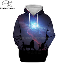 цена на PLstar Cosmos Hot sell casual 3D hoodies/sweatshirts/shirt print the Lion King Simba Men/women's slim long sleeve streetwear-13
