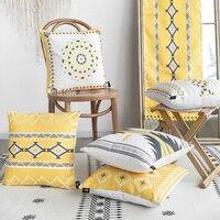 4pcs/set Cushion Cover 45x45cm Thick Blending Home Decorative Pillow Case Geometric