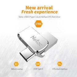 Netac 64GB 32 typ GB C USB 3.0 podwójny interfejs napęd Flash 16GB OTG metalowy dysk USB szybki pendrive U780C