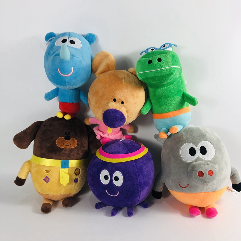6pcs/set 20-30cm Hey Duggee Stuffed Plush Toys Betty Happy Rhino Norrie Christmas Gifts  Cartoon Anime for Kids