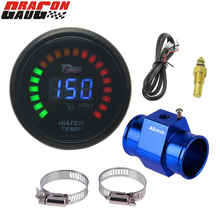 Dragon gauge 52mm(2INCH) Sunglasses LED digital Car motive water