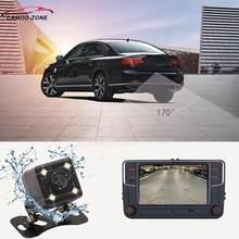 Mib av câmera de visão traseira rcd330 plus hd ccd grande angular retrovisor estacionamento reverso para vw tiguan passat b7 b6 golf 5/6/7 jetta audi