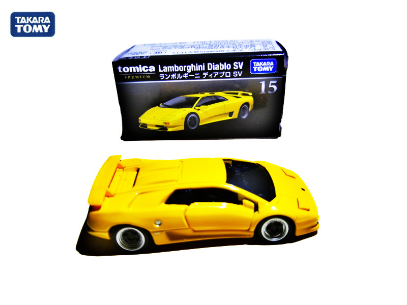 Takara Tomy Tomica Premium No.15  Yellow Metal Diecast Toy Car Model Vehicle Toys for Children Collectables  Car Toys
