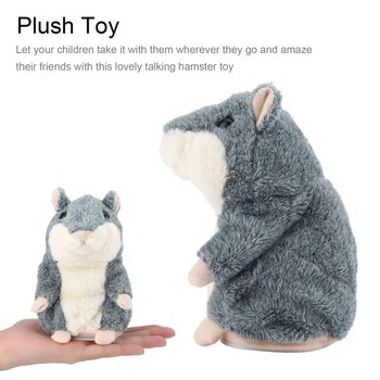 OCDAY Electronic Talking Hamster Children Plush Toys Best Early Educational Toy Xmas Gift Speaking Sound Stuffed Electric Pets hamster ball electric toy plush hamster electric toys scroll walk little toy animal for children gift electronic pets toy