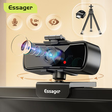 Essager C3 1080P Webcam 2K Full HD Web Camera For PC Computer Laptop USB Web Cam With Microphone Autofocus WebCamera For Youtube