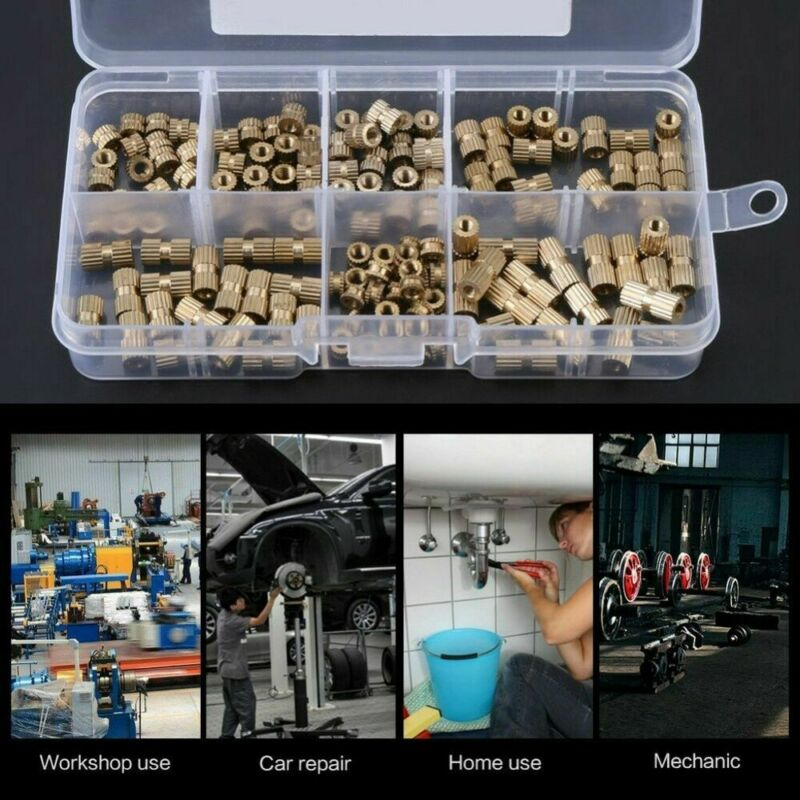 150pcs/Set M3 Brass Threaded Heat Insert Plastic 3D Printing Metal Nut Supplies  Durable And Practical To Use