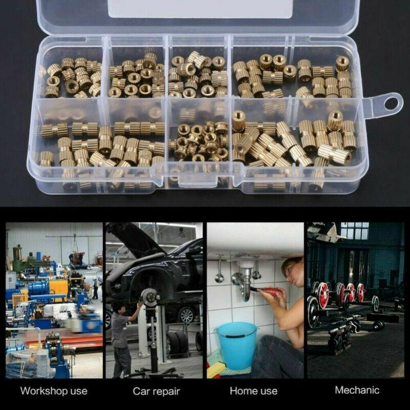 150pcs/Set M3 Brass Threaded Heat Insert Plastic 3D Printing Metal Nut Supplies Durable And Practica
