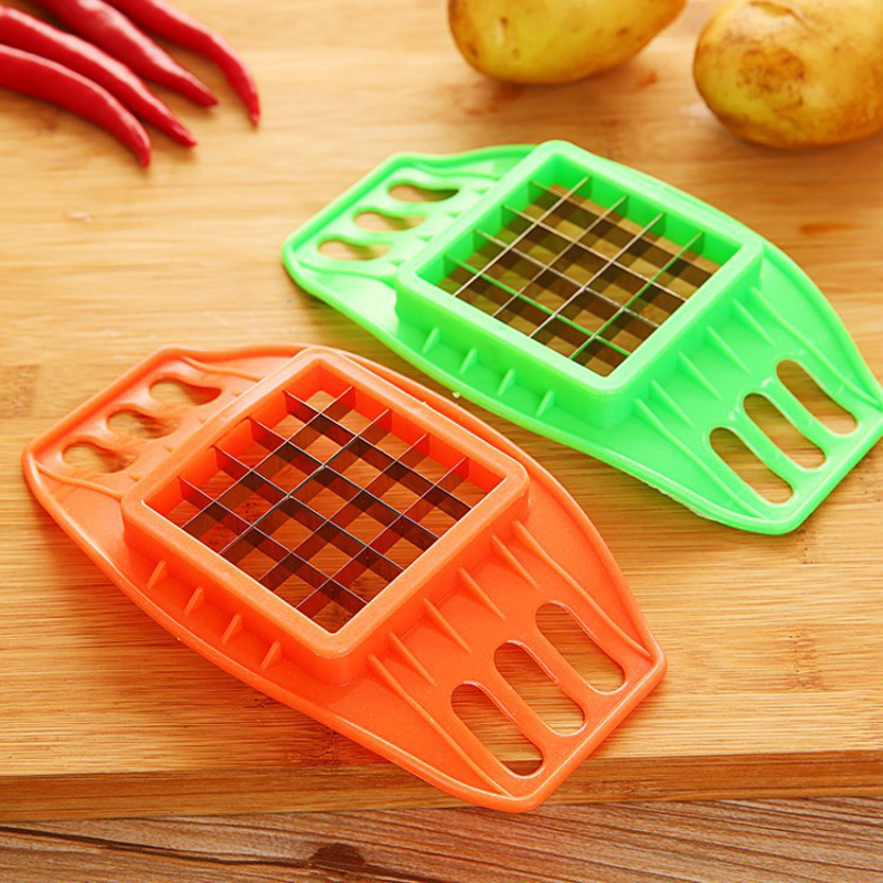 Купить с кэшбэком Stainless Steel Vegetable Potato Slicer Cutter Chopper Chips Making Tool Potato Cutting Fries Tool Kitchen Accessories E#CH