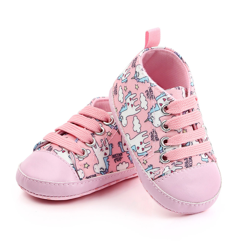 Newborn Baby Shoes Boy Girl Solid Sneaker Cotton Soft Anti-Slip Sole Infant First Walkers Toddler Casual Canvas Crib Shoes
