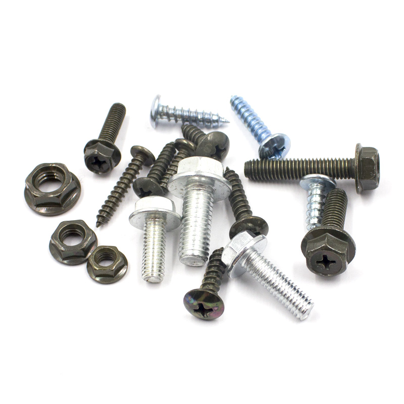 Купить с кэшбэком 36PCS Mixed Car Self - tapping Screw Rivet Metal Fastener Nut M5 M6 M8 For All Auto Metal Rivets