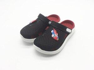 Летние детские тапочки для мальчиков и девочек из ПВХ; Пляжные сандалии из ТПУ для мальчиков и девочек; Детские US11-3 EU30-35