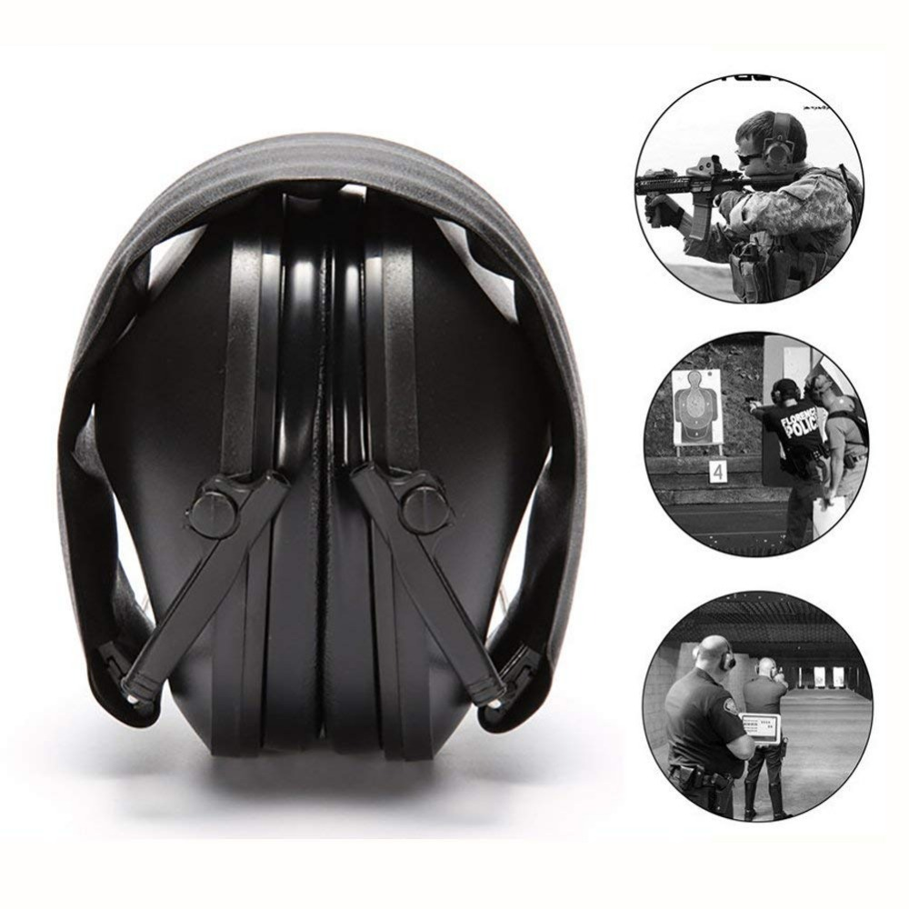 Anti Noise Ear Protector Tactical Shooting Earmuff Adjustable Foldable Snore Earplugs Soft Padded Noise Canceling Headset
